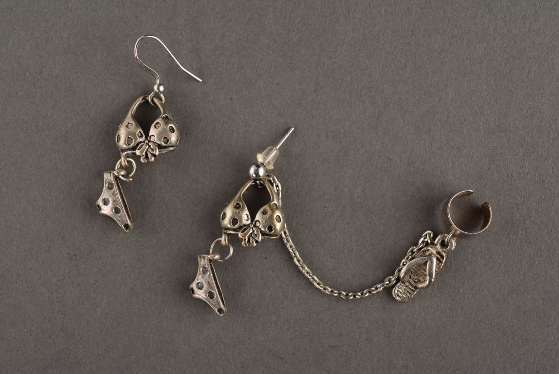 Metal cuff earrings On the Beach photo 2