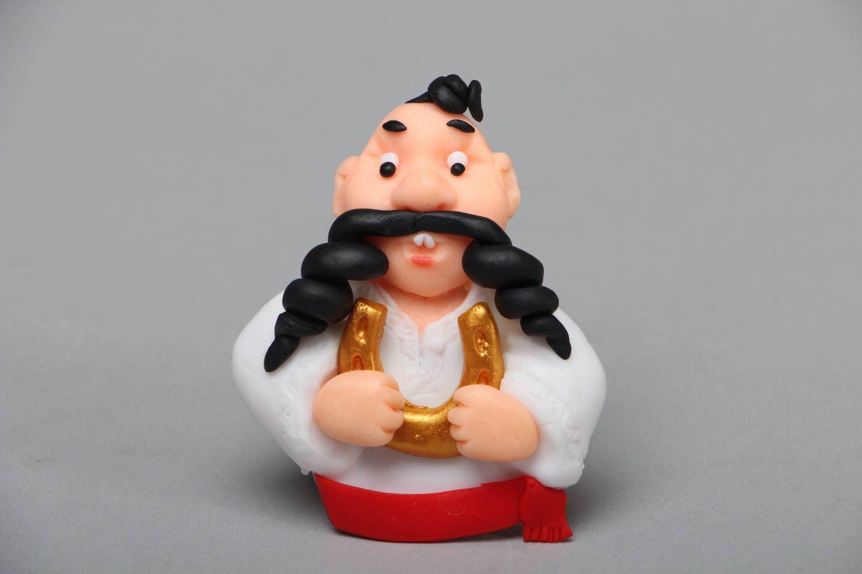Polymer clay souvenir magnet Cossack photo 1