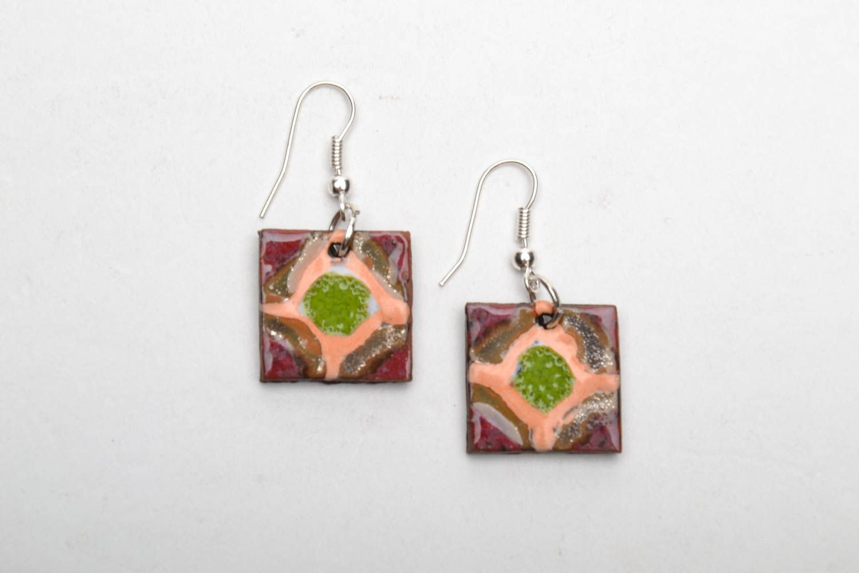 Ethnic ceramic earrings photo 3