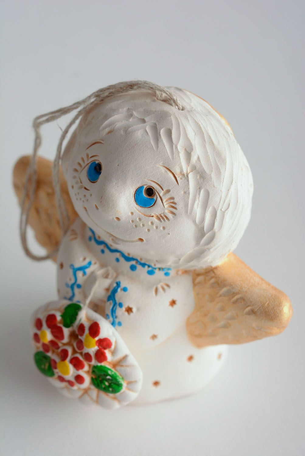 Homemade ceramic bell Angel photo 1