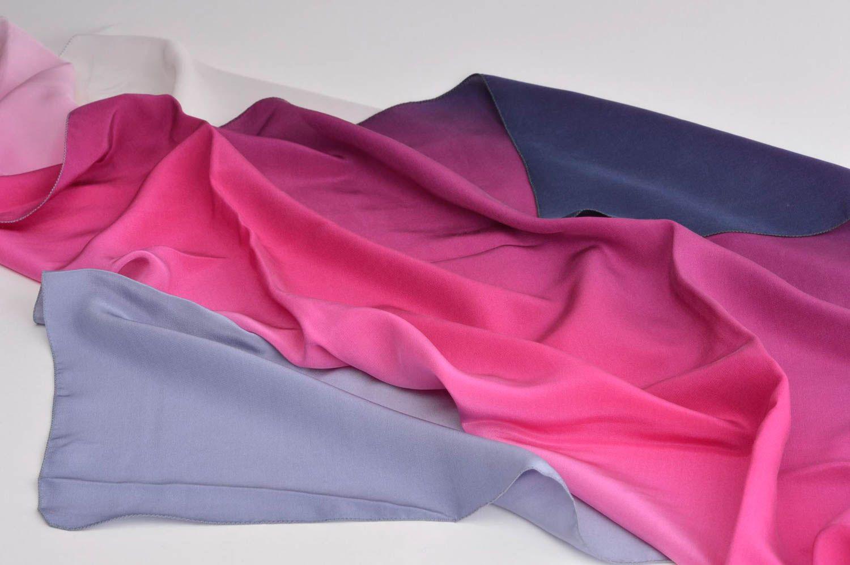 Handmade silk scarf batik scarf silk shawl designer accessories for women photo 2