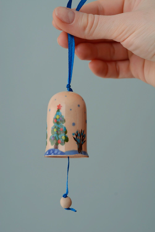 Ceramic bell Winter photo 4