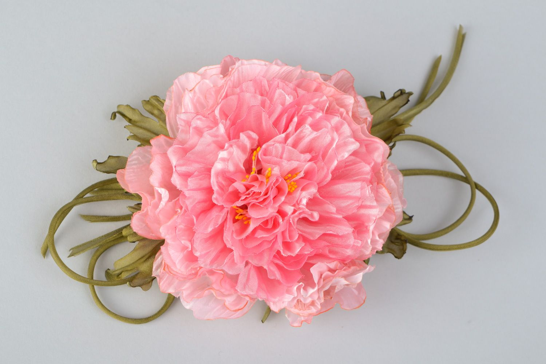 Madeheart Handmade Textile Silk Flower Brooch Hair Clip