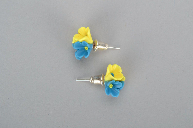 Polymer clay earrings Flowers photo 2