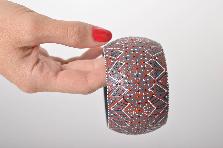 Holz Armband handgemachter Schmuck Damen Armband Geschenk für Frauen breit schön foto 6