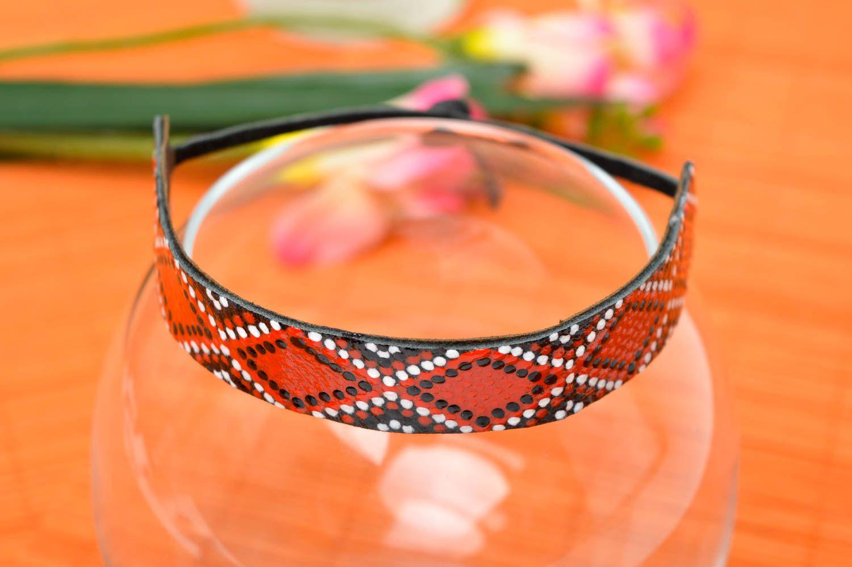Аксессуар из кожи ручная работа кожаный браслет с орнаментом браслет на руку фото 1