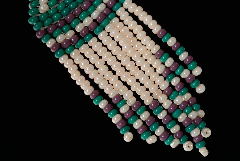 Длинные серьги из бисера Этно фото 2