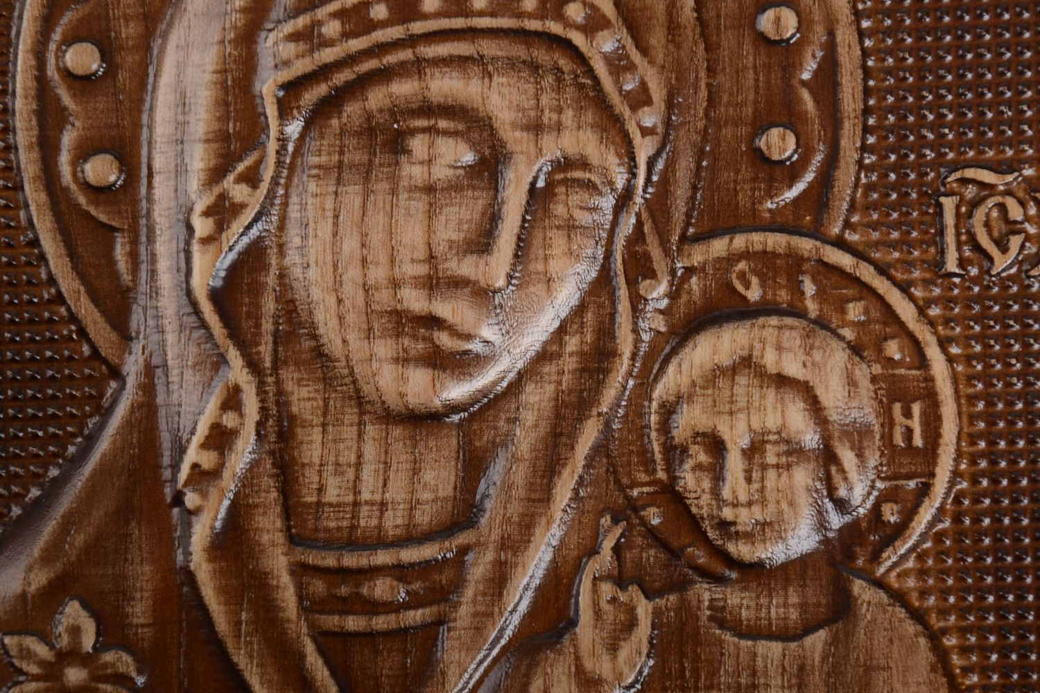carved Handmade orthodox icon wooden carved accessories beautiful unusual interior - MADEheart.com