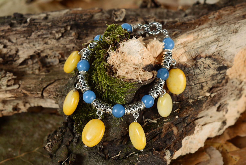 Наручный браслет из натуральных камней фото 1