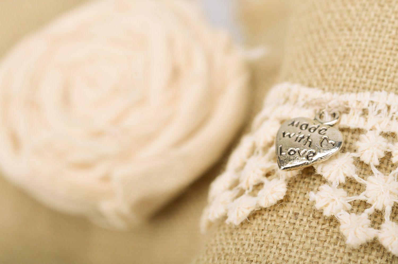 Handmade wall hanging linen sachet pillows Dress and Wings set of 2 items  photo 4