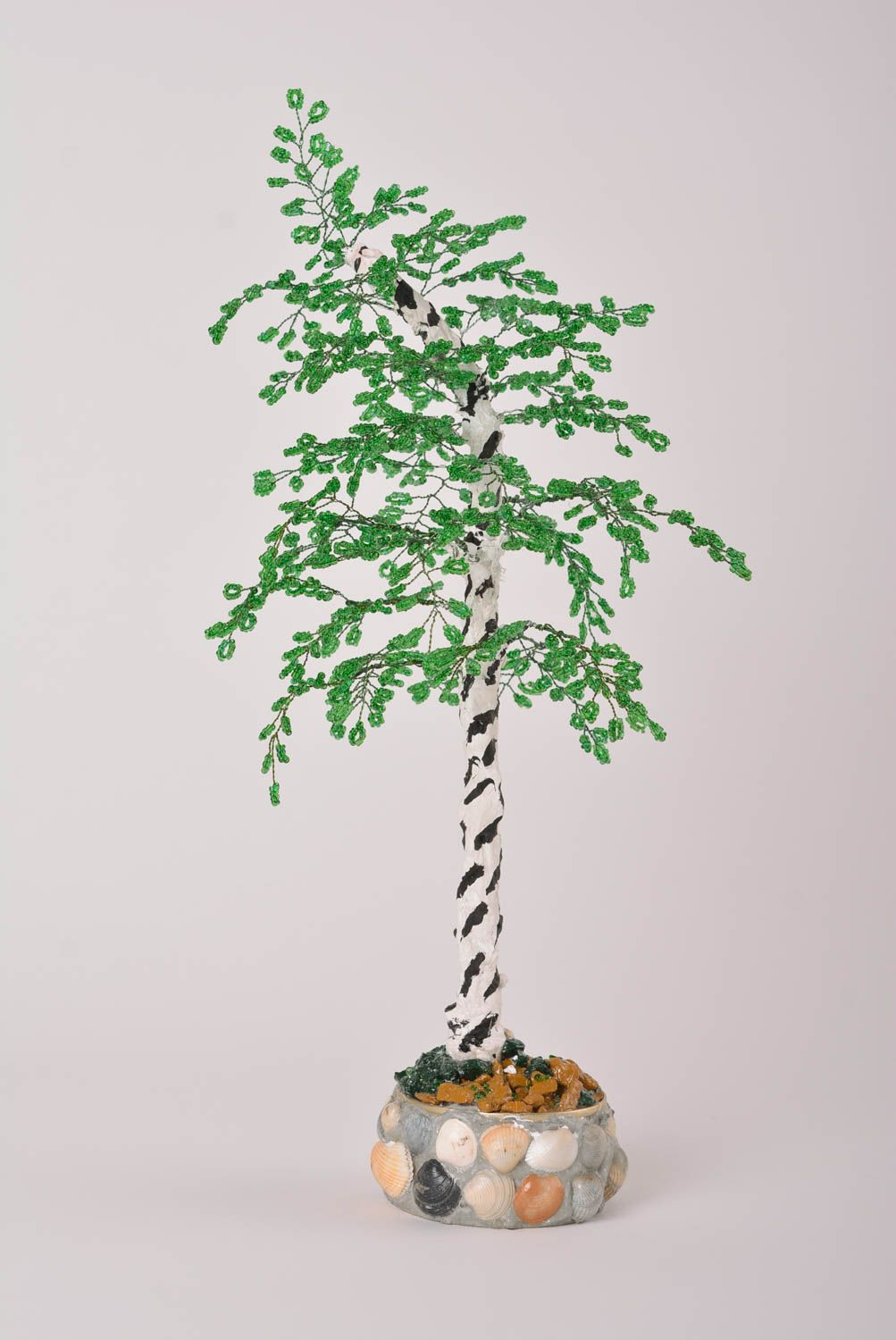 Homemade home decor artificial tree bead weaving topiary tree for decorative use photo 1