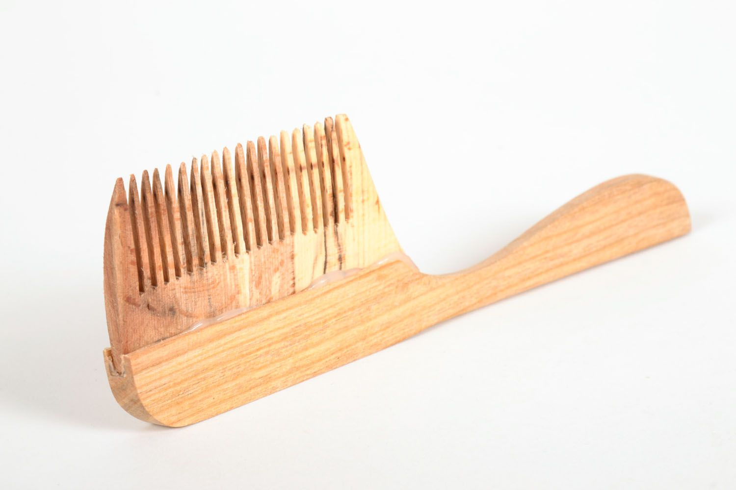 Wooden hair comb photo 4
