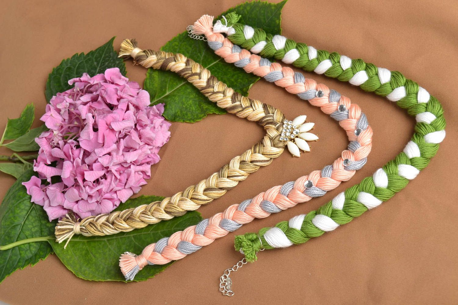 Madeheart Gt Handmade Necklaces Made Of Threads Present For