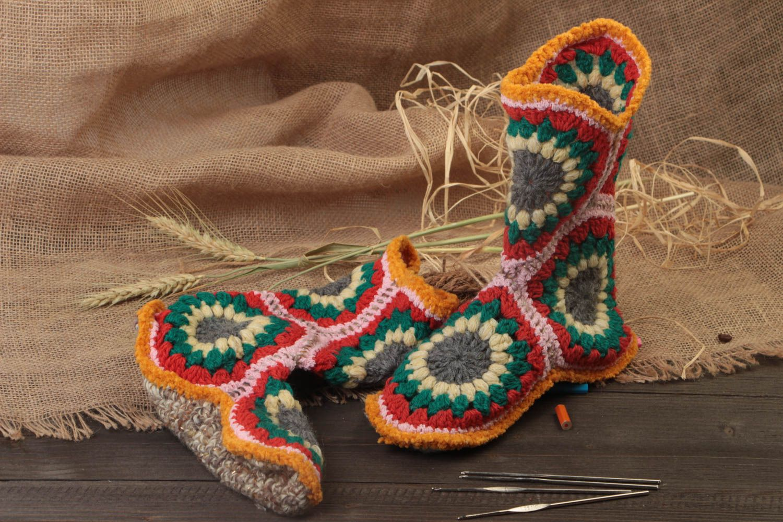 Вязание крючком носки сапожки