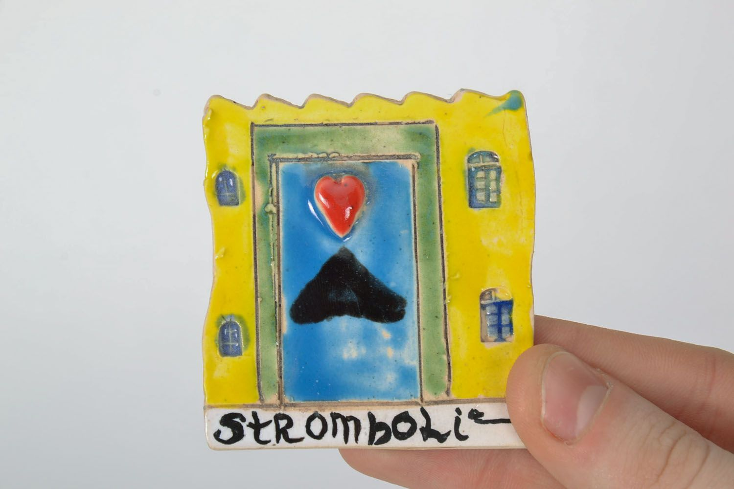 Homemade clay fridge magnet photo 2