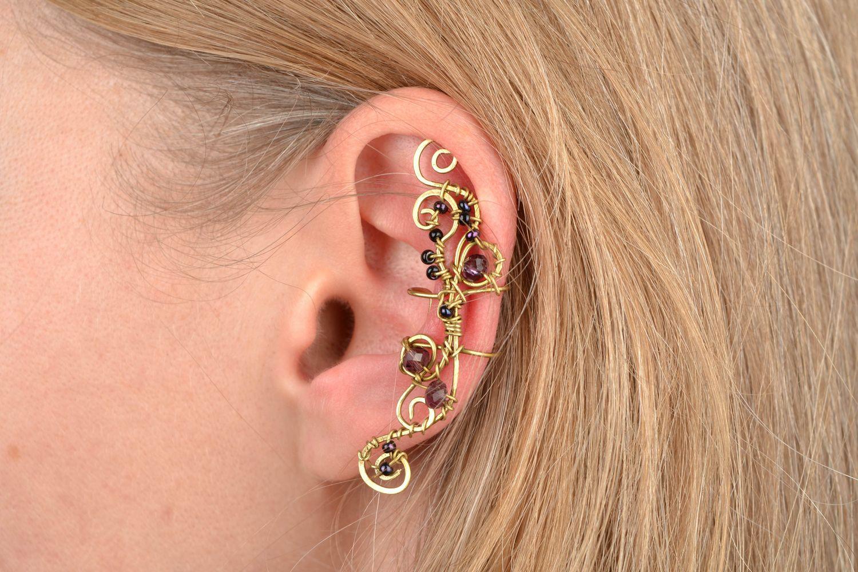 ear cuff Latten wire wrap ear cuff - MADEheart.com