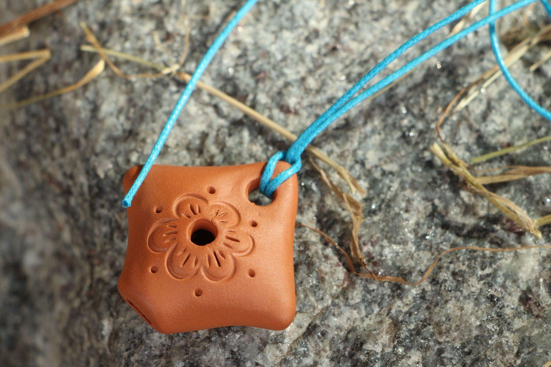 Кулон из глины Свистулька фото 5