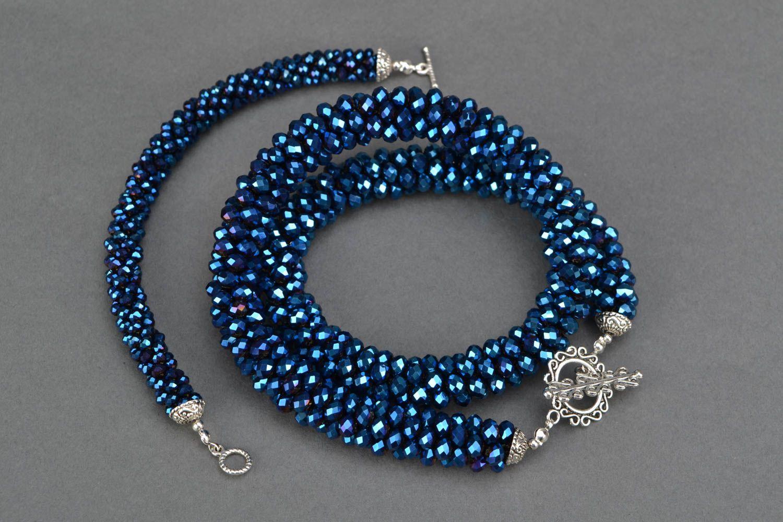 Czech glass jewelry set Bracelet and Necklace photo 4