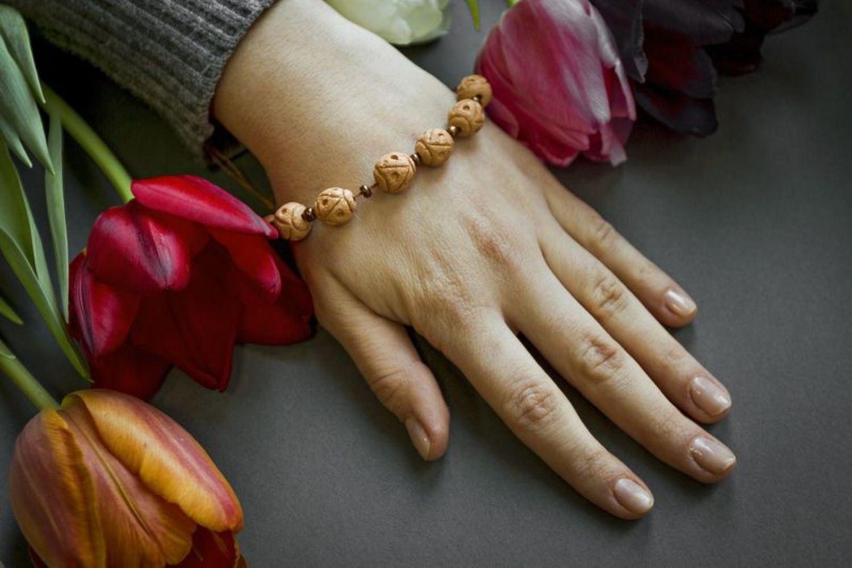 Керамический браслет в этническом стиле фото 5