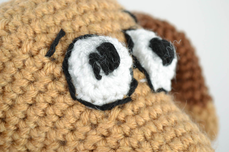 jouets tricotés Ensemble de jouets tricotés en laine et mi-laine faits main petits Deux chiens - MADEheart.com