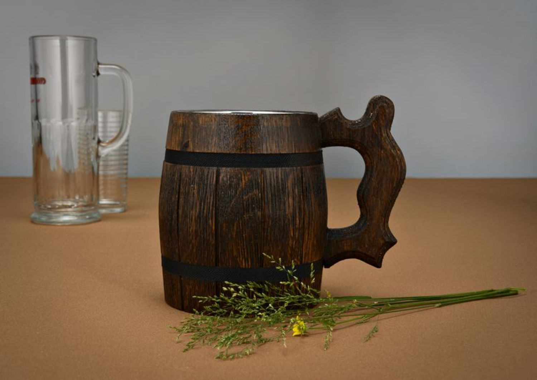 Large beer mug with metal inside photo 1