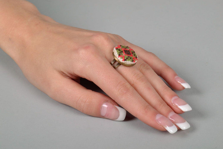 Handmade round seal ring photo 5