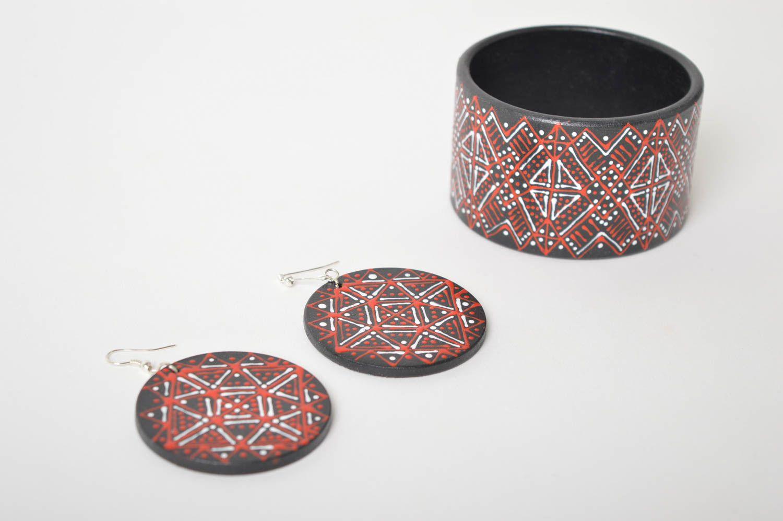 Handmade lovely earrings stylish cute jewelry unusual designer bracelet  photo 5