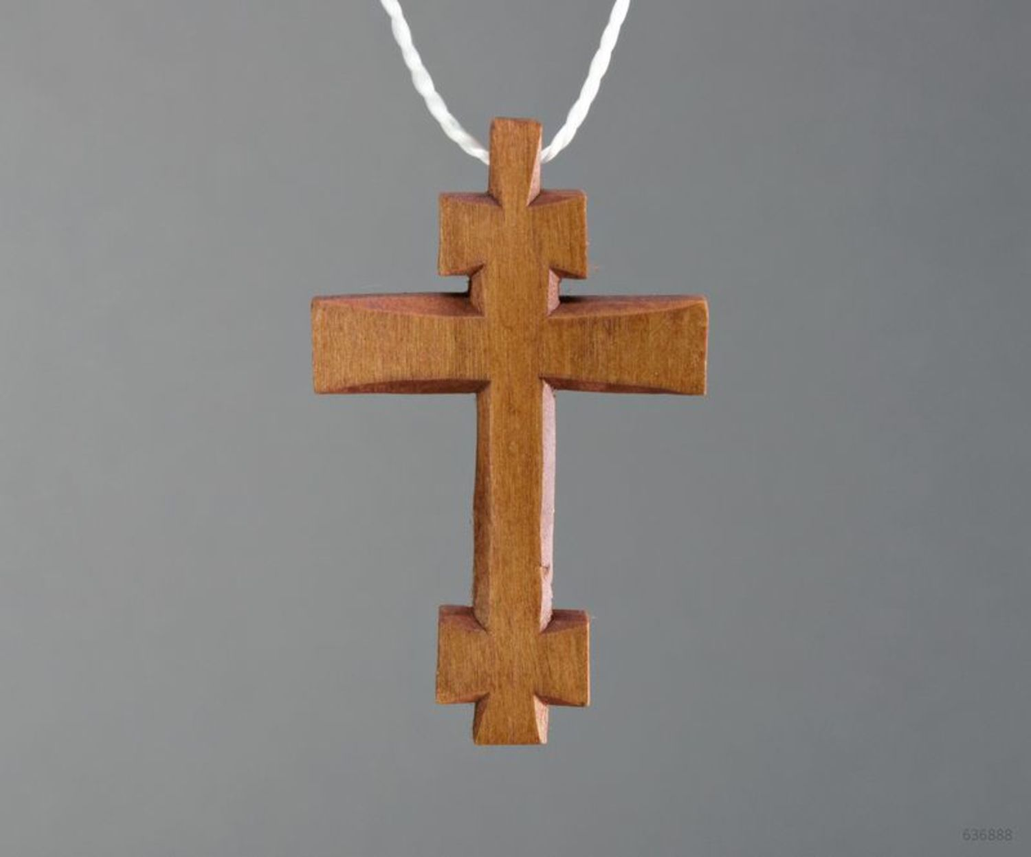 Pectoral cross made of wood photo 3