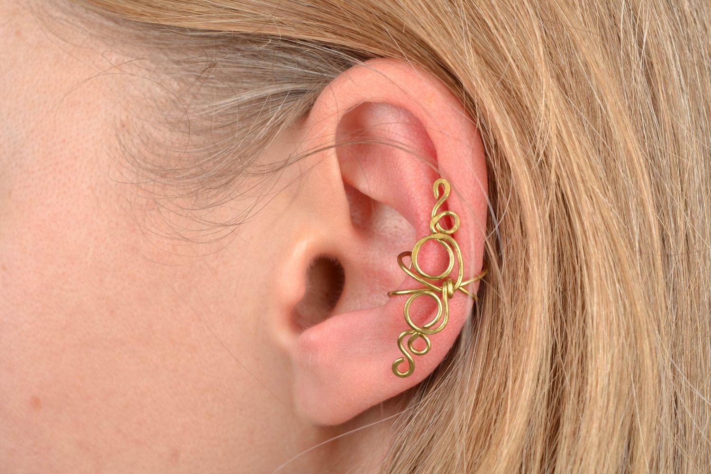 Latten wire wrap ear cuff Curl photo 2
