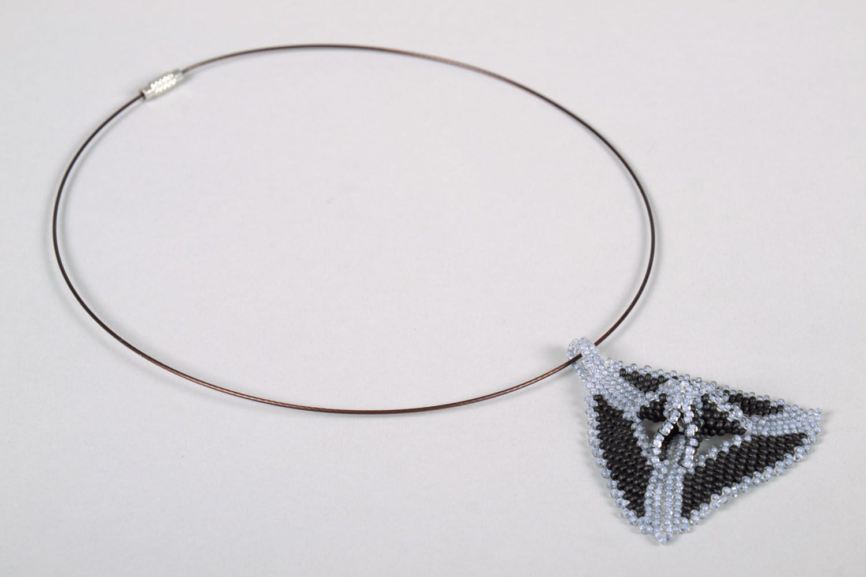 Pendant with Czech beads photo 4