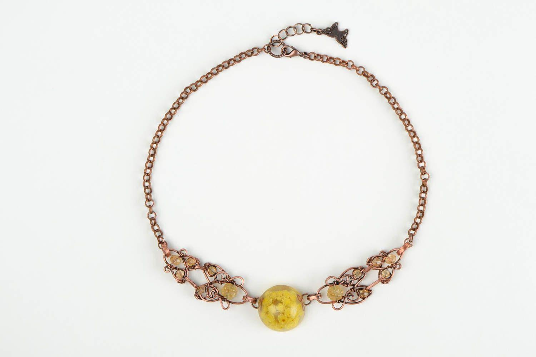 Unusual handmade wire wrap necklace beautiful jewellery metal necklace design photo 4