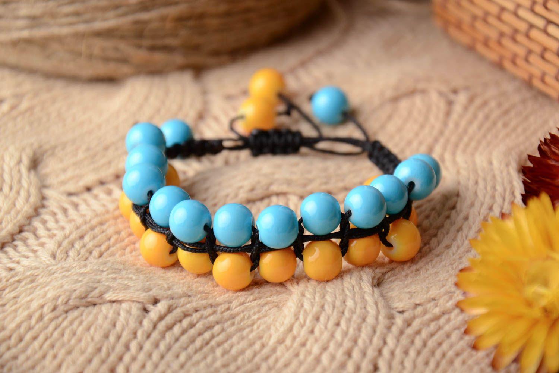Bracelet woven of glass beads photo 3
