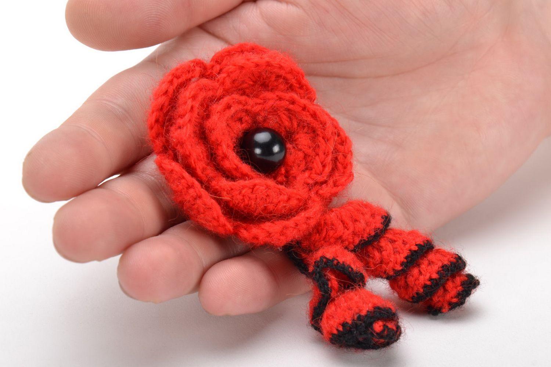 Homemade crochet brooch photo 5