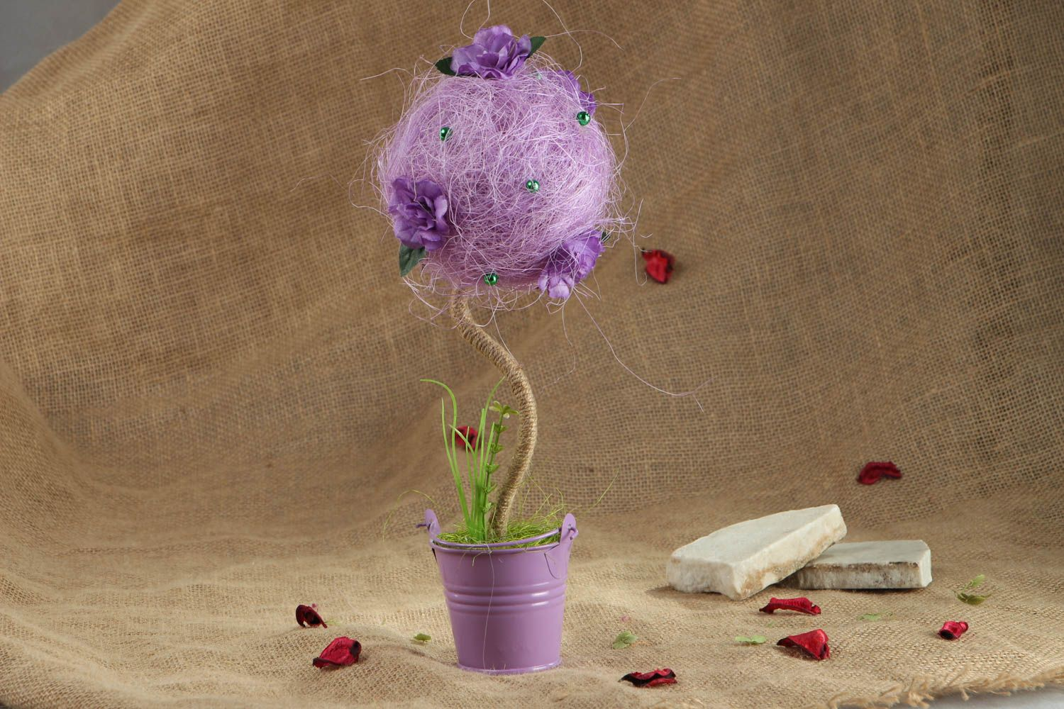 Handmade tree of happiness of lilac color photo 5