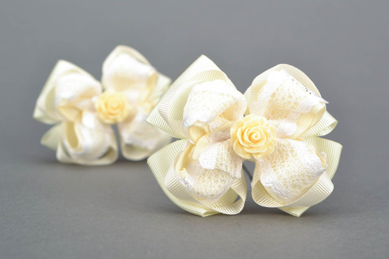 Hair clip set Creamy Rose photo 1