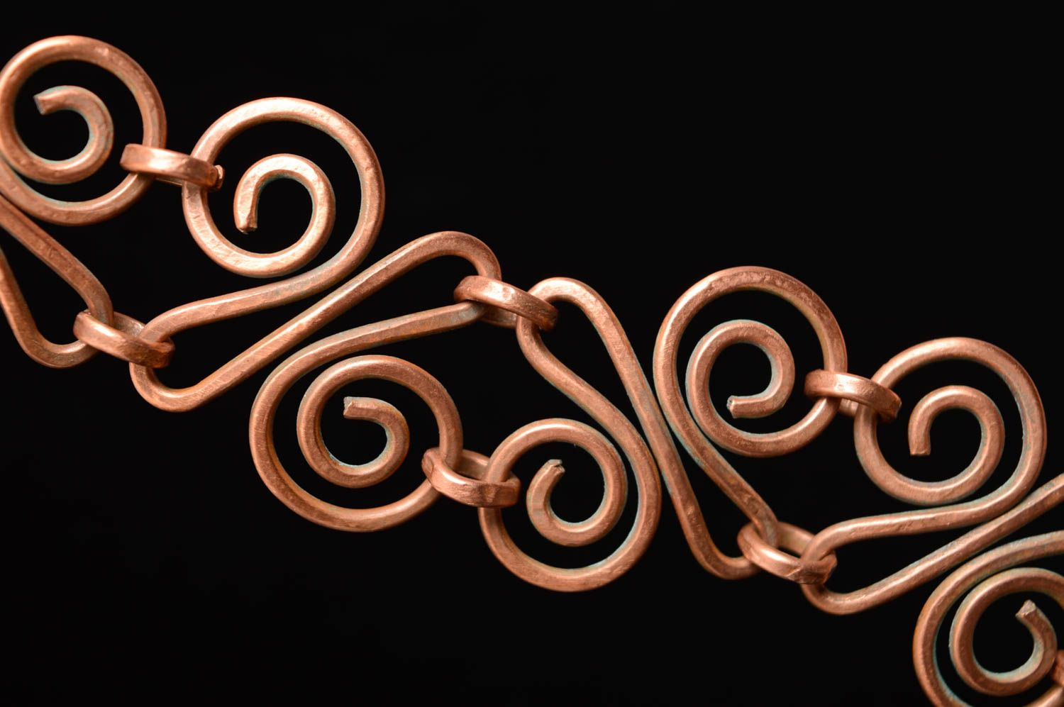 Wire wrap copper bracelet Aldebaran photo 5