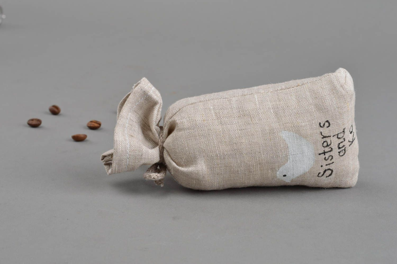 Soft small textile sack handmade textile souvenir stylish unusual sachet photo 4
