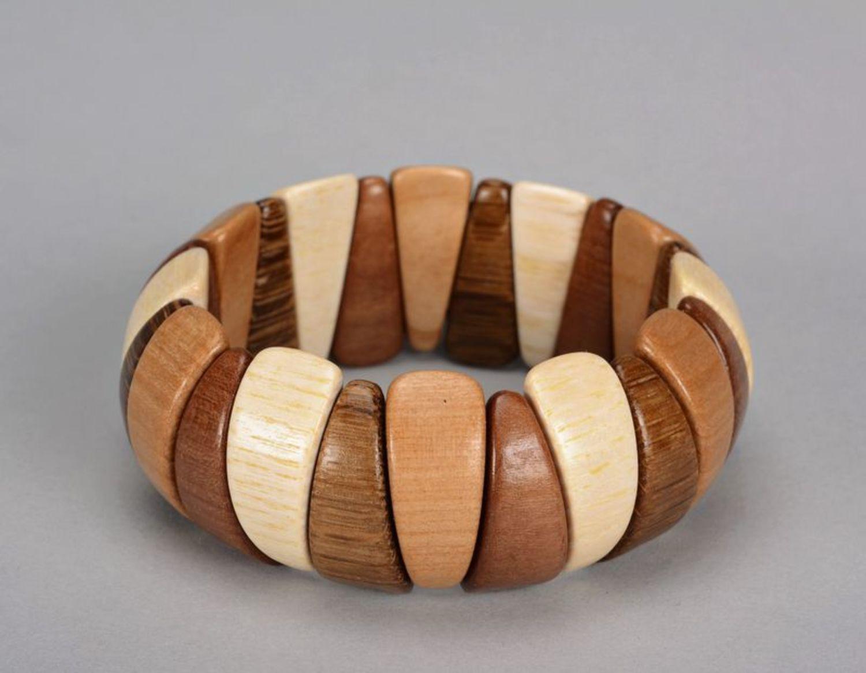 pulseras de madera Pulsera marrón de madera - MADEheart.com