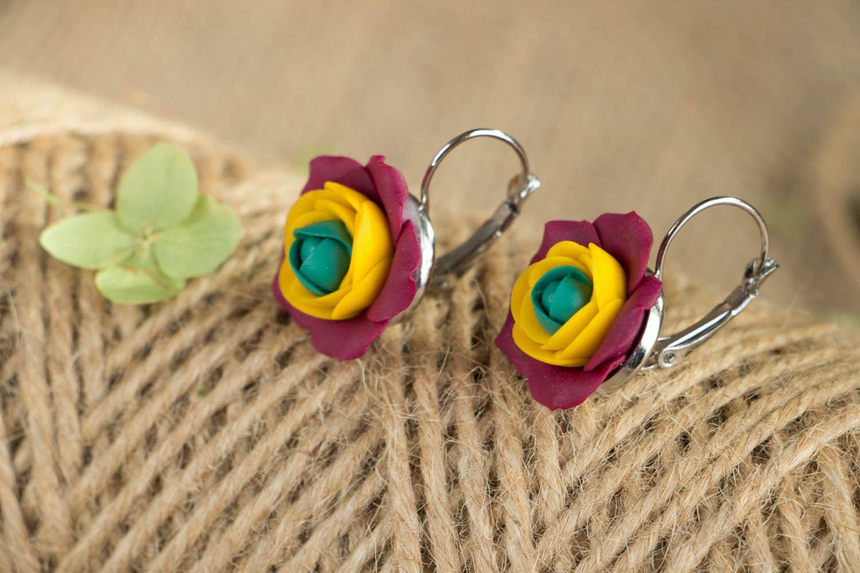 Flower earrings  photo 3