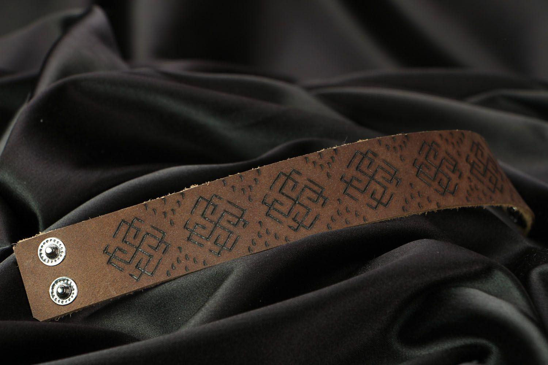 Кожаный браслет Сварожич фото 3