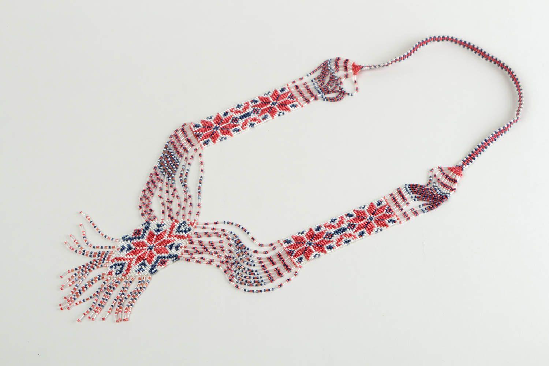 Beaded necklace handmade accessory beaded gerdan designer fashion jewelry photo 2