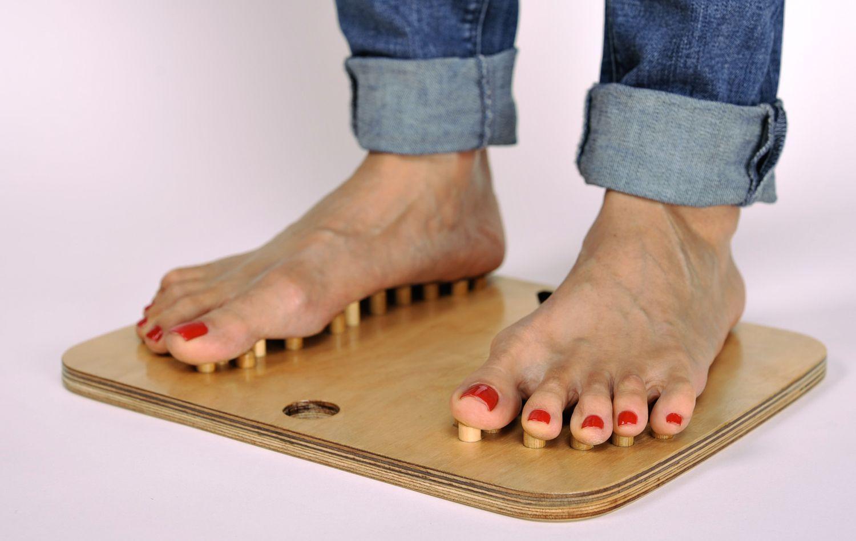 Wooden foot massage tool photo 2