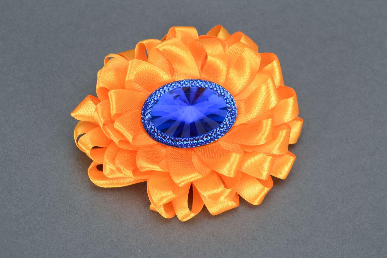 Orange Haarklemme Brosche foto 3