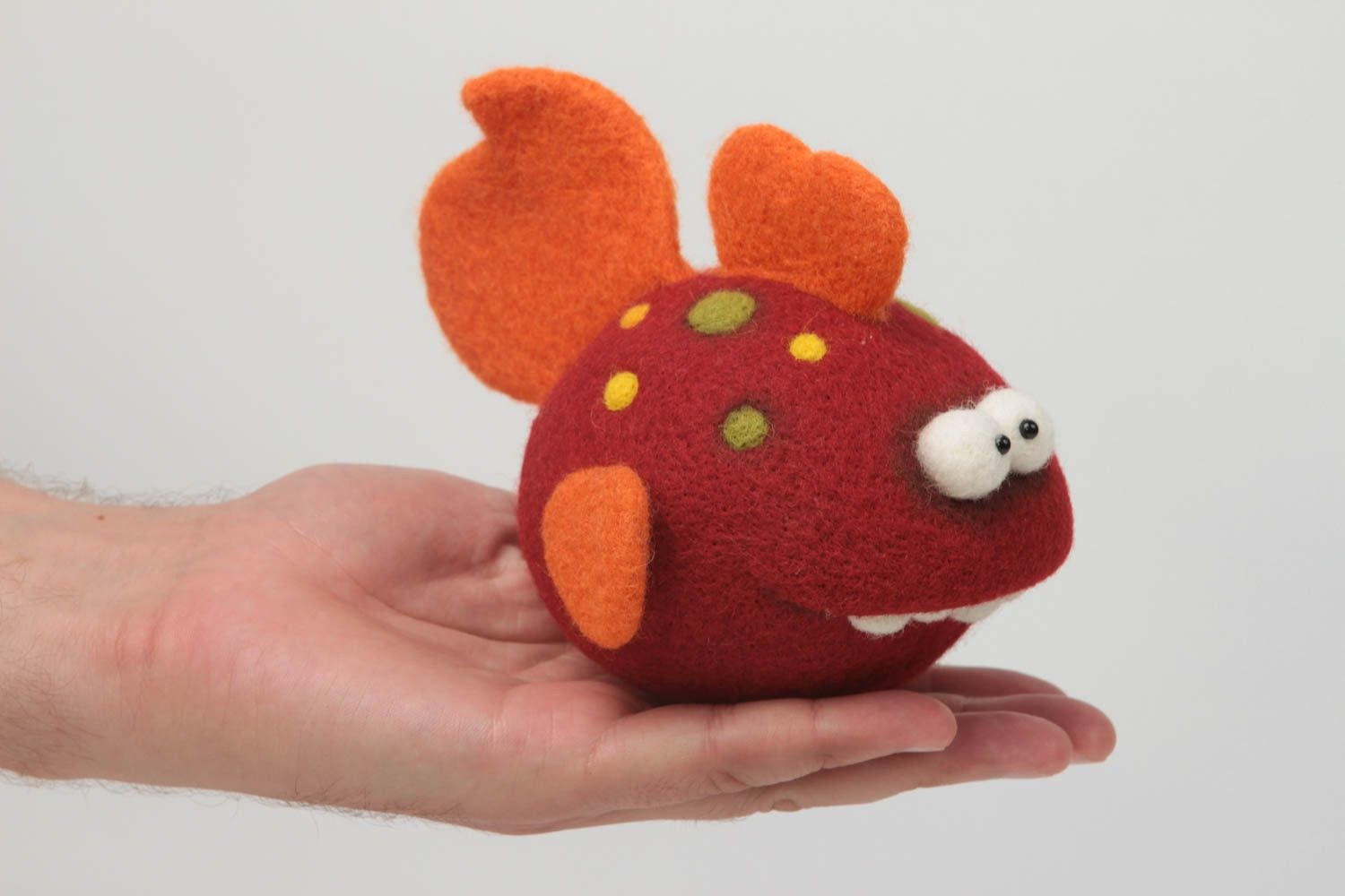 felted toys Handmade toy unusual fish toy designer toy for baby interior toy decor ideas - MADEheart.com