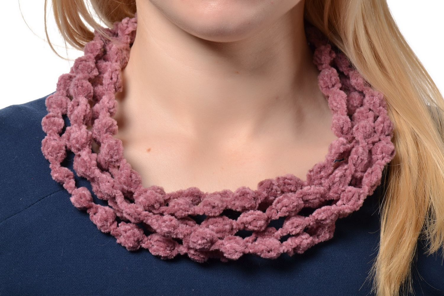 Crochet multi-row necklace photo 1