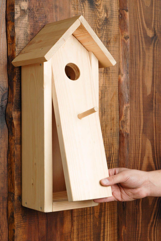 madeheart nichoir en bois brut pour oiseau fait main balcon d coration originale. Black Bedroom Furniture Sets. Home Design Ideas