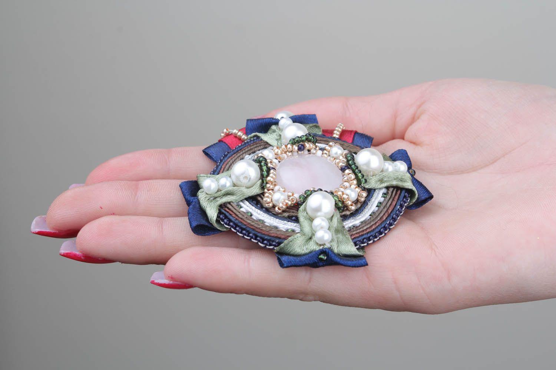 Soutache brooch decoration photo 5