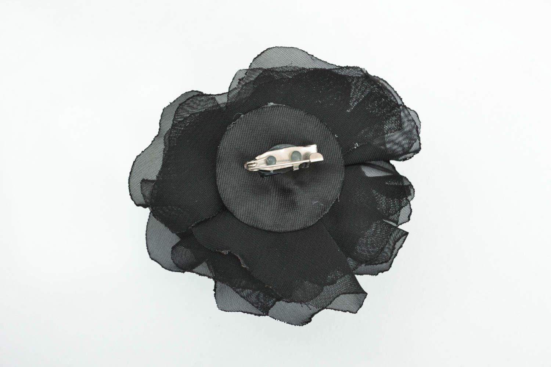 Designer floral brooch Black photo 1