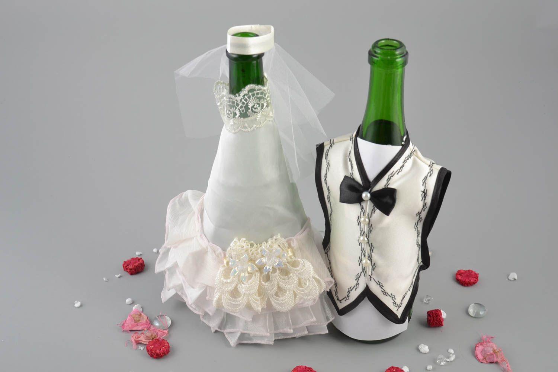ropa de novios para botellas