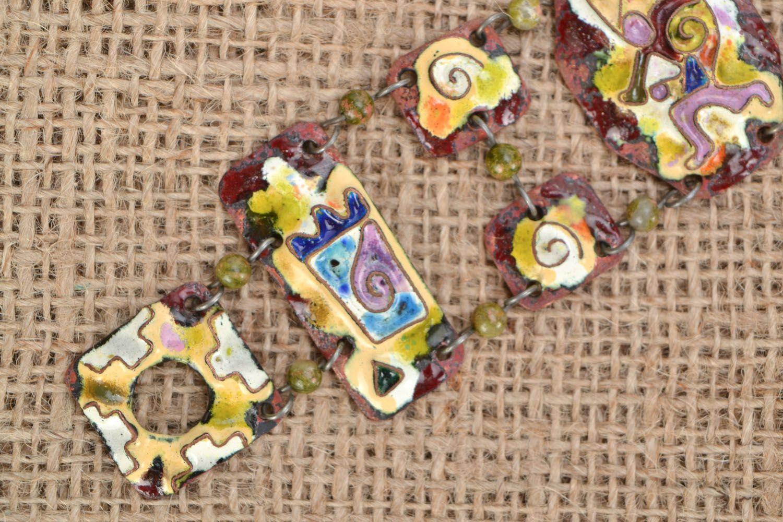 Enamel bracelet photo 1